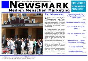 Aktuelle Ausgabe von NewsMARK zum kostenlosen Download